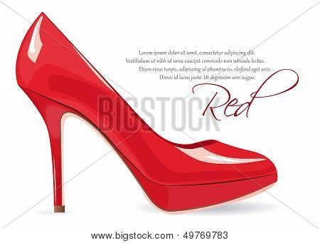 Red High-heeled Shoe