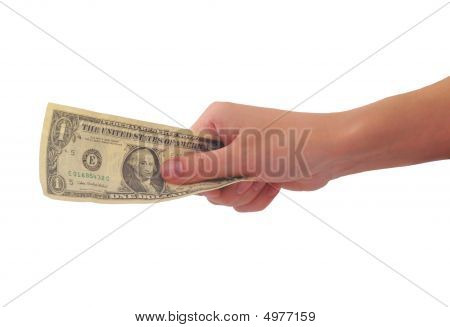One-dollar Banknote In A Hand