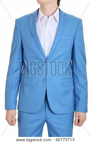 Evening Suit, Blue. Turquoise Suits For Men.