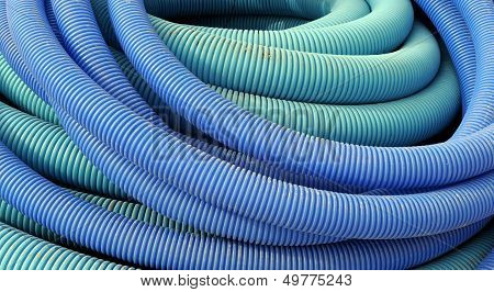 Coil Of Blue Plastic