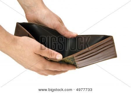 Empty Wallet, Sign Of Recession And Hard Financial Time For All People