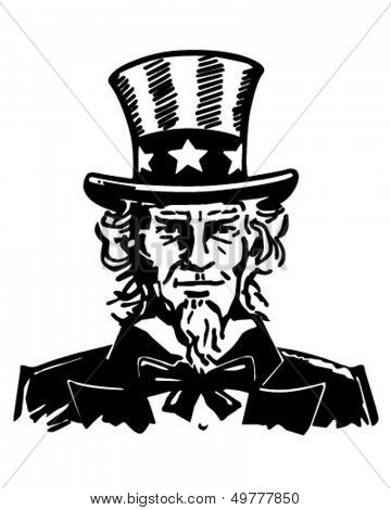 Uncle Sam 3 - Retro Clip Art Illustration