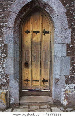 old antique elizabethan castle manor door
