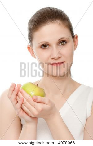 Woman Portrait With Apple