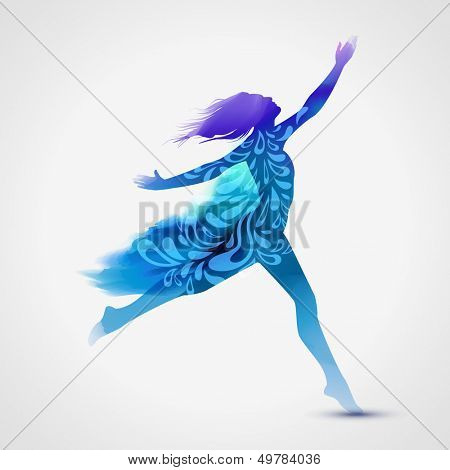 Dancer, eps10 vector