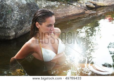 Woman In Spring Water