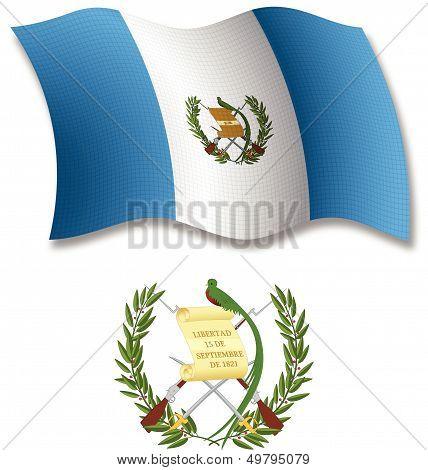 Guatemala Textured Wavy Flag Vector