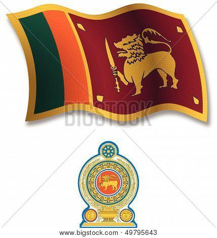 Sri Lanka Textured Wavy Flag Vector