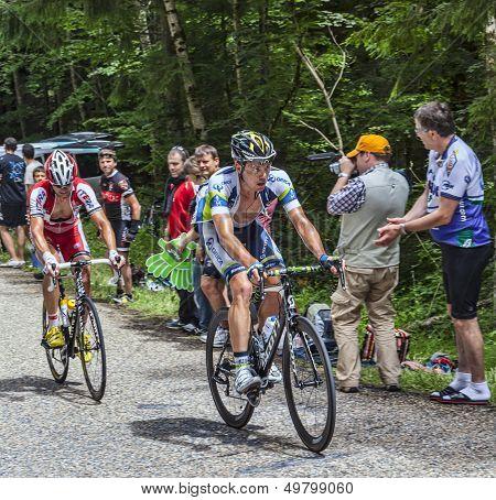 Cyclists Climbing