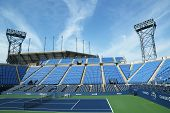 Luis Armstrong Stadium at the Billie Jean King National Tennis Center ready for US Open tournament