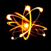 stock photo of neutrons  - Image of color atoms and electrons - JPG