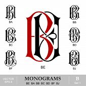 foto of monogram  - Vintage monogram set - JPG