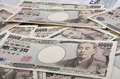 picture of yen  - Japanese currency 10000 yen paper money finance of globle - JPG