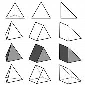 pic of cylinder pyramid  - This image is a vector illustration and can be scaled to any size without loss of resolution - JPG