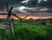 foto of split rail fence  - Split - JPG
