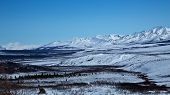 foto of denali national park  - Snow dusts the fields and mountains of Alaska - JPG