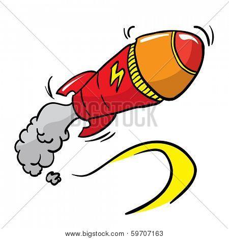 rocket missile cartoon illustration