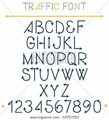 Traffic Font Letters