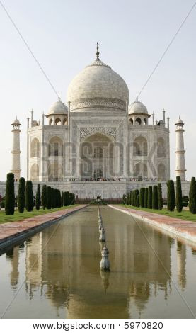 Beautiful Mosque Taj Mahal. Agra, India