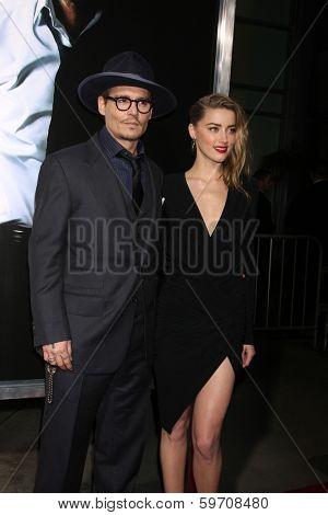 LOS ANGELES - FEB 12:  Johnny Depp, Amber Heard at the