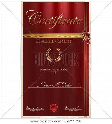 Red Certificate Template