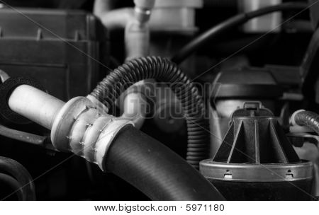 Car engine hose and parts