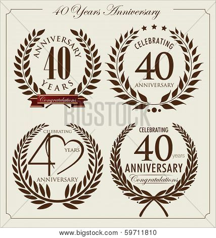 Anniversary Laurel Wreath, 40 Years