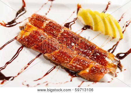 japanese food roast eel ( unagi )