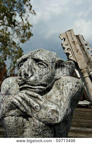 Gargoyle in Junkyard