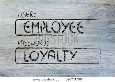 User Employee, Password Loyalty