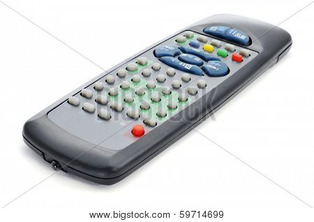 closeup of a universal remote control
