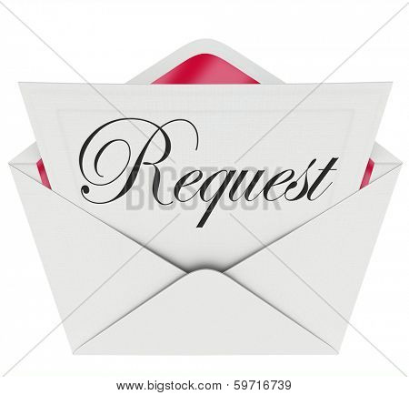 Request Word Letter Note Asking Help Assistance
