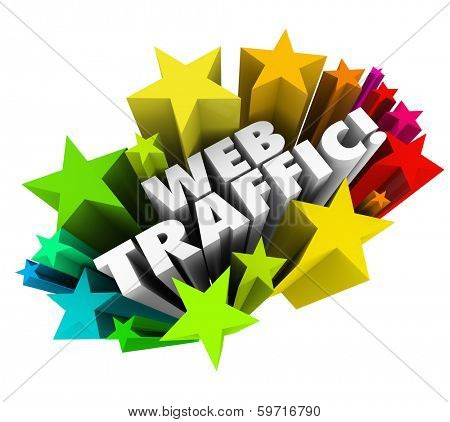 Web Traffic Stars Increase Online Exposure Views Customers