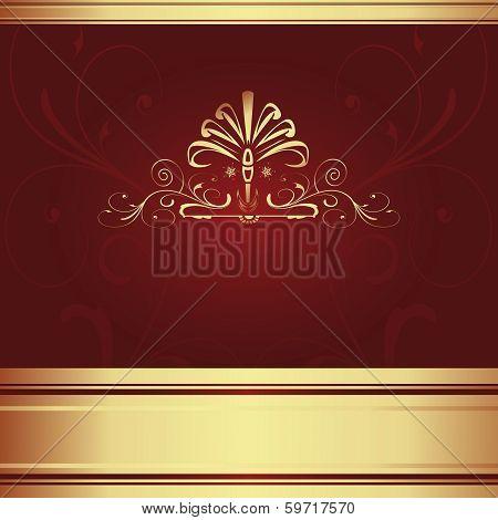 Background-Elegant Maroon For Wedding Or Corporate