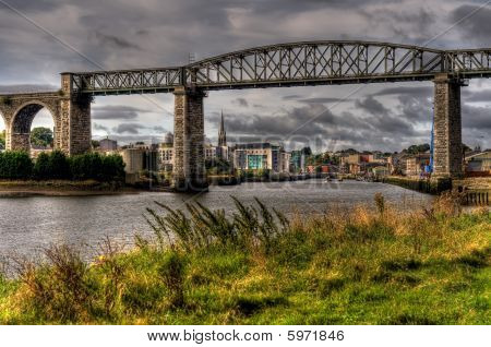 Viaduct Bridge Spanning A River
