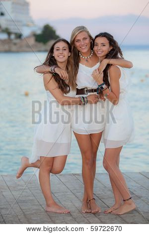 friends on holiday in Mallorca or Majorca