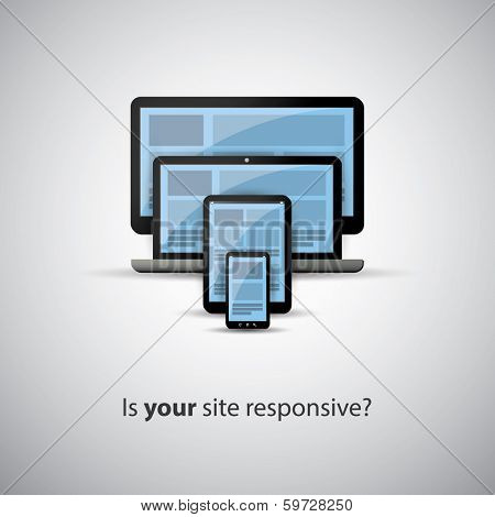 Responsive Web Design Concept - Is Your Site Responsive?