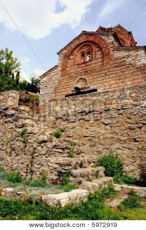 Church At Kaneo In Ohrid, Macedonia