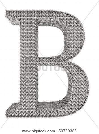 Chain Link Steel Alphabet - B