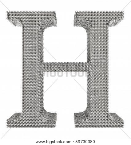 Chain Link Steel Alphabet - H