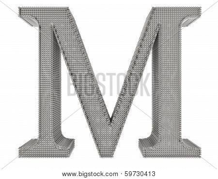 Chain Link Steel Alphabet - M