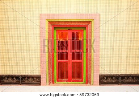 Wooden Door With Chinese Traditional Style Pattern