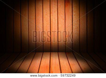 Wooden Interior Room Corner for background