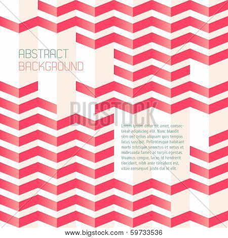 Abstract geometric background with zigzags.