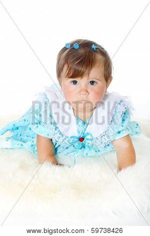 little funny baby girl