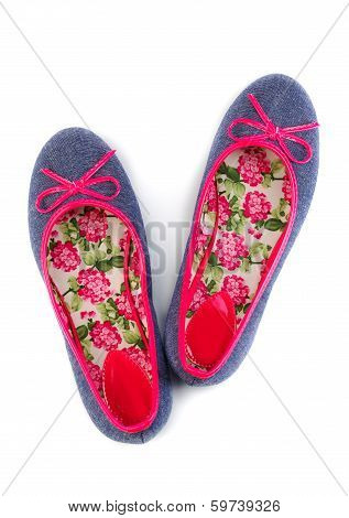 Lightweight Women's Shoes With Floral Pattern