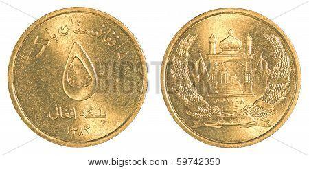 5 Afghan Afghani Coin