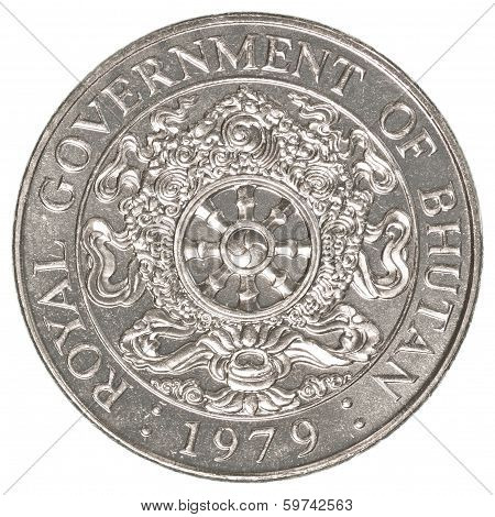 One Bhutanese Ngultrum Coin