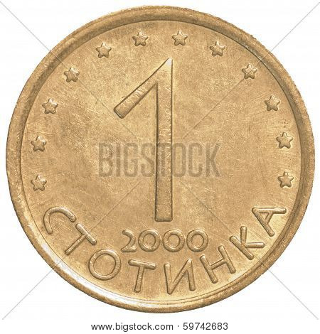 One Bulgarian Stotinki Coin