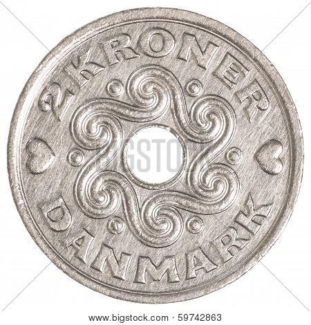 2 Danish Krone Coin
